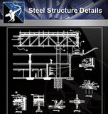 【Steel Structure Details】Steel Structure Details Collection V.7 - Architecture Autocad Blocks,CAD Details,CAD Drawings,3D Models,PSD,Vector,Sketchup Download