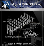 【Free Architecture Details】Joist & Rafter Blocking - Architecture Autocad Blocks,CAD Details,CAD Drawings,3D Models,PSD,Vector,Sketchup Download