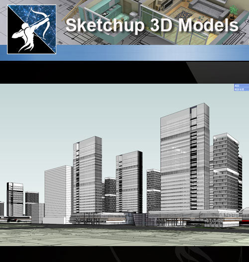 ★Sketchup 3D Models-Business Building Sketchup Models 3