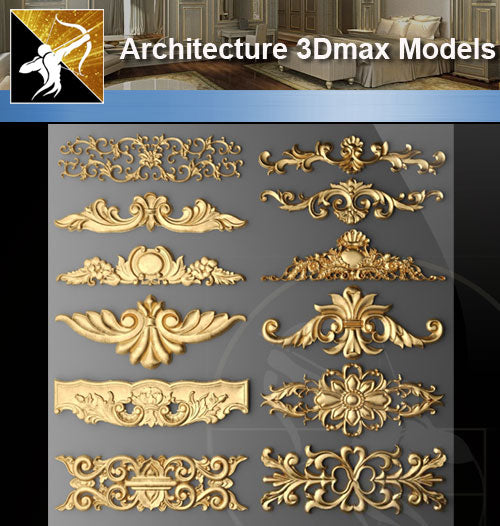 ★Download 3D Max Decoration Models V.2 - Architecture Autocad Blocks,CAD Details,CAD Drawings,3D Models,PSD,Vector,Sketchup Download