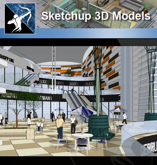 ★Sketchup 3D Models-Business Building Sketchup Models 9