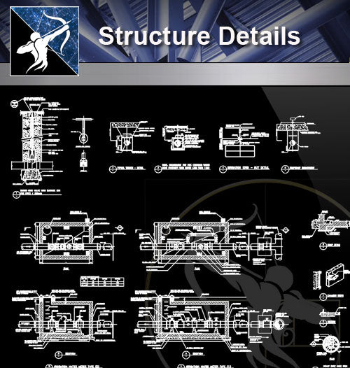 【Architecture Details】Structure Details - Architecture Autocad Blocks,CAD Details,CAD Drawings,3D Models,PSD,Vector,Sketchup Download
