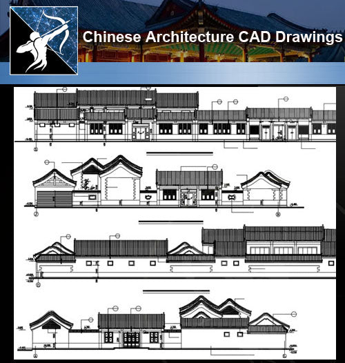 ★Chinese Architecture CAD Drawings-Chinese Architecture Section - Architecture Autocad Blocks,CAD Details,CAD Drawings,3D Models,PSD,Vector,Sketchup Download
