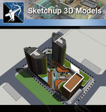 ★Sketchup 3D Models-Business Building Sketchup Models 10 - Architecture Autocad Blocks,CAD Details,CAD Drawings,3D Models,PSD,Vector,Sketchup Download