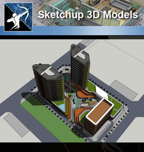 ★Sketchup 3D Models-Business Building Sketchup Models 10