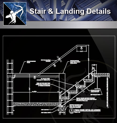 【Free Stair Details】Stair and Landing Detail