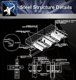 【Steel Structure Details】Steel Structure Details Collection V.4 - Architecture Autocad Blocks,CAD Details,CAD Drawings,3D Models,PSD,Vector,Sketchup Download