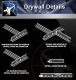 【Wall Details】Drywall Details - Architecture Autocad Blocks,CAD Details,CAD Drawings,3D Models,PSD,Vector,Sketchup Download