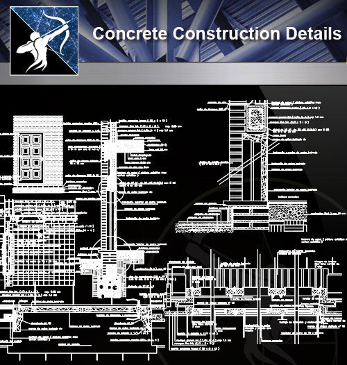 【Concrete Details】Construction detail of cavity wall design drawing