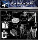【Foundation Details】Foundation Details 1 (Recommanded!!) - Architecture Autocad Blocks,CAD Details,CAD Drawings,3D Models,PSD,Vector,Sketchup Download