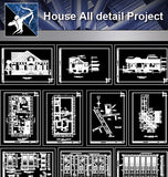 【Architecture Details】House All detail Project