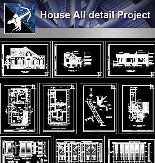 【Architecture Details】House All detail Project - Architecture Autocad Blocks,CAD Details,CAD Drawings,3D Models,PSD,Vector,Sketchup Download