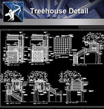 【Architecture Details】 Treehouse Detail - Architecture Autocad Blocks,CAD Details,CAD Drawings,3D Models,PSD,Vector,Sketchup Download