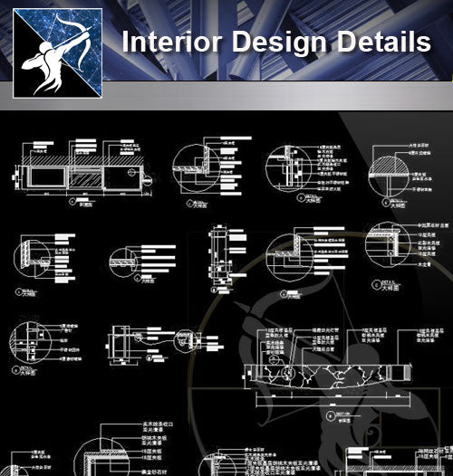 【Architecture Details】 Interior Design Details - Architecture Autocad Blocks,CAD Details,CAD Drawings,3D Models,PSD,Vector,Sketchup Download