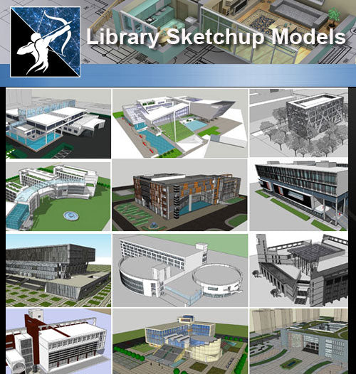 ★Sketchup 3D Models-15 Types of Library Sketchup Models - Architecture Autocad Blocks,CAD Details,CAD Drawings,3D Models,PSD,Vector,Sketchup Download