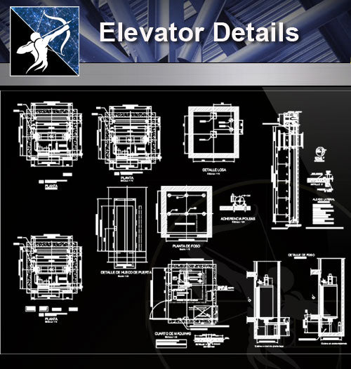 【Stair Details】Elevator Details - Architecture Autocad Blocks,CAD Details,CAD Drawings,3D Models,PSD,Vector,Sketchup Download