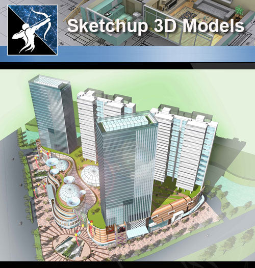 ★Sketchup 3D Models-Business Building Sketchup Models 11