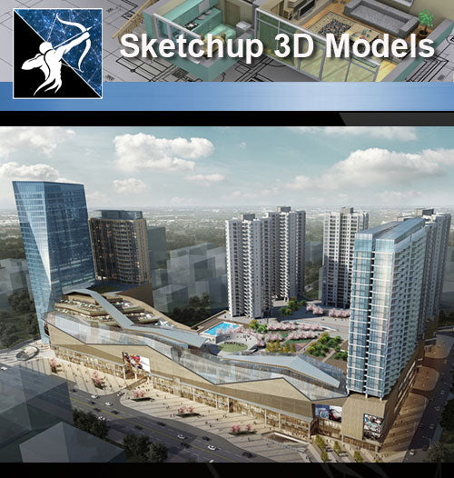 ★Sketchup 3D Models-Business Building Sketchup Models 15