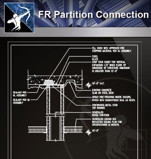 【Free Architecture Details】FR Partition Connection - Architecture Autocad Blocks,CAD Details,CAD Drawings,3D Models,PSD,Vector,Sketchup Download