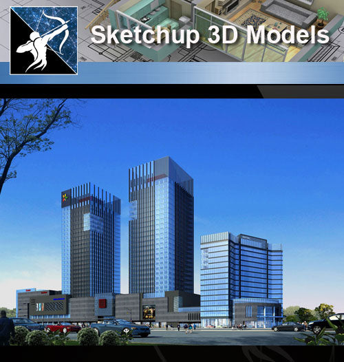 ★★Sketchup 3D Models--Architecture Concept Sketchup Models 12 - Architecture Autocad Blocks,CAD Details,CAD Drawings,3D Models,PSD,Vector,Sketchup Download