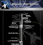 【Free Architecture Details】Masonry Wall Section - Architecture Autocad Blocks,CAD Details,CAD Drawings,3D Models,PSD,Vector,Sketchup Download
