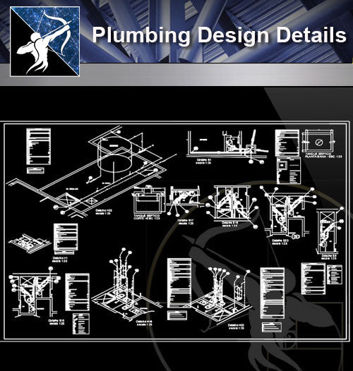 【Sanitations Details】Plumbing Design (Recommanded!!) - Architecture Autocad Blocks,CAD Details,CAD Drawings,3D Models,PSD,Vector,Sketchup Download