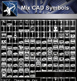 【Free Symbols CAD Blocks】Mix cad Symbols - Architecture Autocad Blocks,CAD Details,CAD Drawings,3D Models,PSD,Vector,Sketchup Download