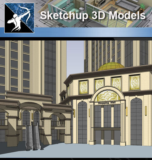 ★Sketchup 3D Models-Business Building Sketchup Models 13