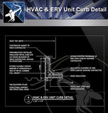 【Free Sanitations Details】HVAC & ERV Unit Curb Detail - Architecture Autocad Blocks,CAD Details,CAD Drawings,3D Models,PSD,Vector,Sketchup Download