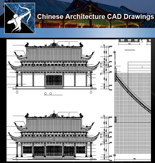 ★Chinese Architecture CAD Drawings-Grand Hall of Chinese Temple - Architecture Autocad Blocks,CAD Details,CAD Drawings,3D Models,PSD,Vector,Sketchup Download