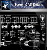 【Curtain Wall Details】Screen CAD Detail - Architecture Autocad Blocks,CAD Details,CAD Drawings,3D Models,PSD,Vector,Sketchup Download