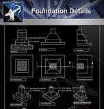 【Free Foundation Details】Foundation Details - Architecture Autocad Blocks,CAD Details,CAD Drawings,3D Models,PSD,Vector,Sketchup Download