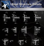 【Steel Structure Details】Steel Structure Details Collection V.2 - Architecture Autocad Blocks,CAD Details,CAD Drawings,3D Models,PSD,Vector,Sketchup Download
