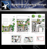 【Architecture Details】 Apartment planing design drawing - Architecture Autocad Blocks,CAD Details,CAD Drawings,3D Models,PSD,Vector,Sketchup Download