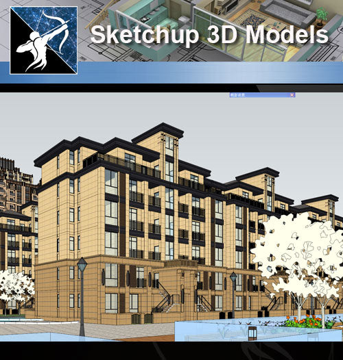 ★★Sketchup 3D Models--Architecture Concept Sketchup Models 19 - Architecture Autocad Blocks,CAD Details,CAD Drawings,3D Models,PSD,Vector,Sketchup Download