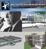 ★Famous Architecture -17 Kinds of Mies Van Der Rohe Sketchup 3D Models - Architecture Autocad Blocks,CAD Details,CAD Drawings,3D Models,PSD,Vector,Sketchup Download