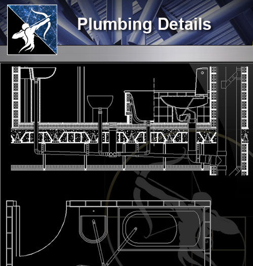 【Free Sanitations Details】Plumbing Details - Architecture Autocad Blocks,CAD Details,CAD Drawings,3D Models,PSD,Vector,Sketchup Download