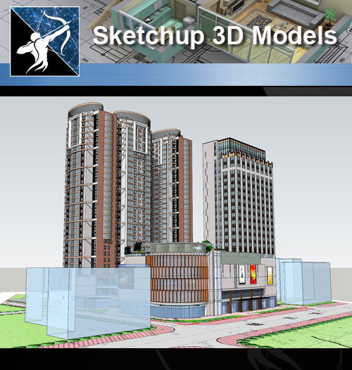★★Sketchup 3D Models--Architecture Concept Sketchup Models 17 - Architecture Autocad Blocks,CAD Details,CAD Drawings,3D Models,PSD,Vector,Sketchup Download