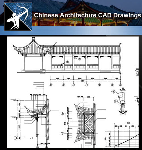 ★Chinese Architecture CAD Drawings-Chinese Garden Design - Architecture Autocad Blocks,CAD Details,CAD Drawings,3D Models,PSD,Vector,Sketchup Download