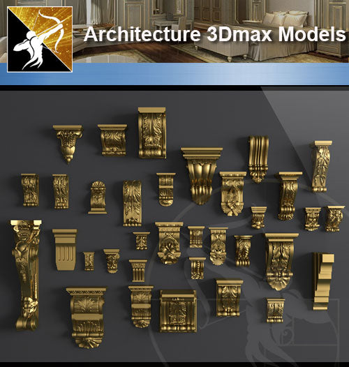 ★Download 3D Max Decoration Models V.5 - Architecture Autocad Blocks,CAD Details,CAD Drawings,3D Models,PSD,Vector,Sketchup Download