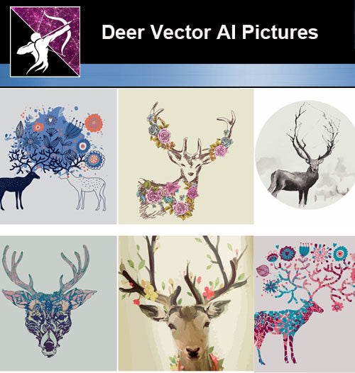 ★Download Deer Vector AI Files