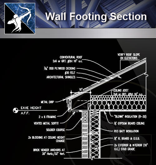 【Wall Details】Wall Footing Section