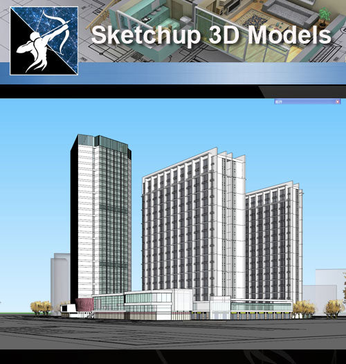 ★★Sketchup 3D Models--Architecture Concept Sketchup Models 9 - Architecture Autocad Blocks,CAD Details,CAD Drawings,3D Models,PSD,Vector,Sketchup Download