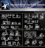 【Accessibility Facilities Details】Handicap facilities - Architecture Autocad Blocks,CAD Details,CAD Drawings,3D Models,PSD,Vector,Sketchup Download