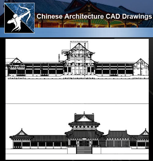 ★Chinese Architecture CAD Drawings-Chinese Temple - Architecture Autocad Blocks,CAD Details,CAD Drawings,3D Models,PSD,Vector,Sketchup Download