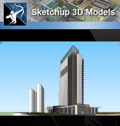 ★★Sketchup 3D Models--Architecture Concept Sketchup Models 3 - Architecture Autocad Blocks,CAD Details,CAD Drawings,3D Models,PSD,Vector,Sketchup Download