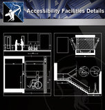 【Accessibility Facilities Details】Accessibility Facilities Details 4 - Architecture Autocad Blocks,CAD Details,CAD Drawings,3D Models,PSD,Vector,Sketchup Download