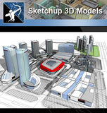 ★★Sketchup 3D Models--Architecture Concept Sketchup Models 7 - Architecture Autocad Blocks,CAD Details,CAD Drawings,3D Models,PSD,Vector,Sketchup Download