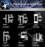 【Architecture Details】Plaster plate drawing detail - Architecture Autocad Blocks,CAD Details,CAD Drawings,3D Models,PSD,Vector,Sketchup Download