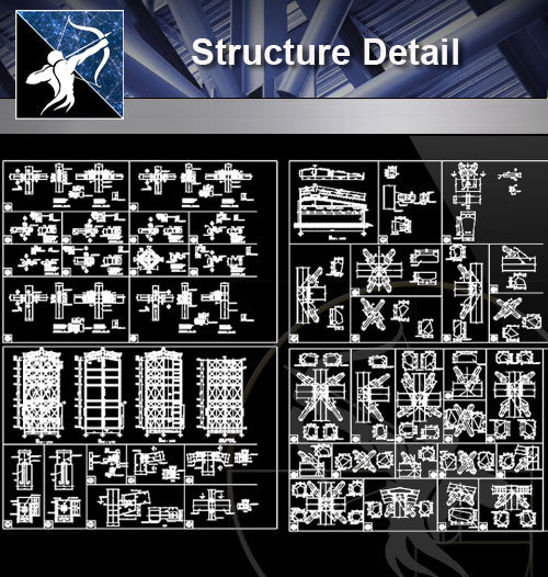【Architecture Details】Structure Detail 2 - Architecture Autocad Blocks,CAD Details,CAD Drawings,3D Models,PSD,Vector,Sketchup Download